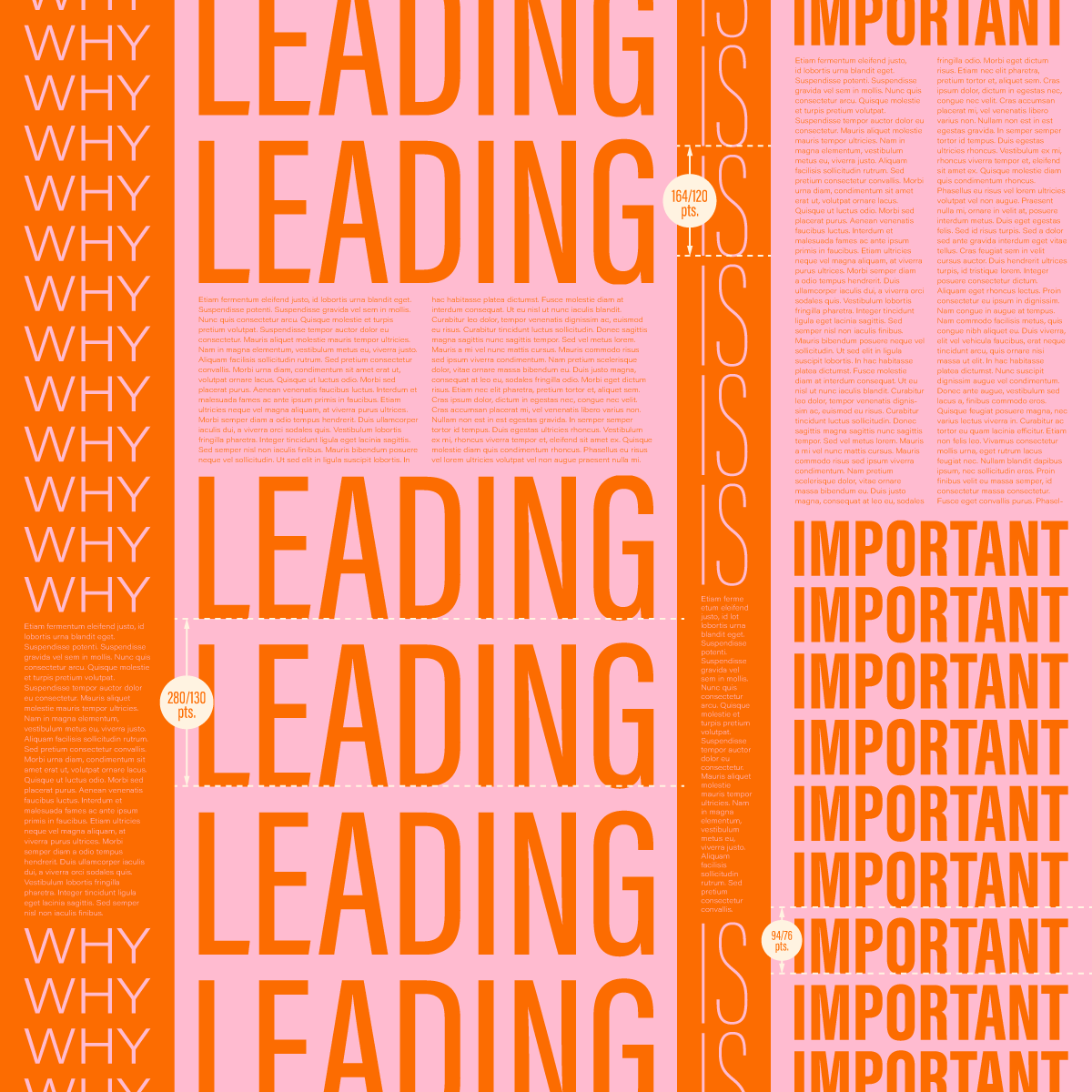 what is leading in typography