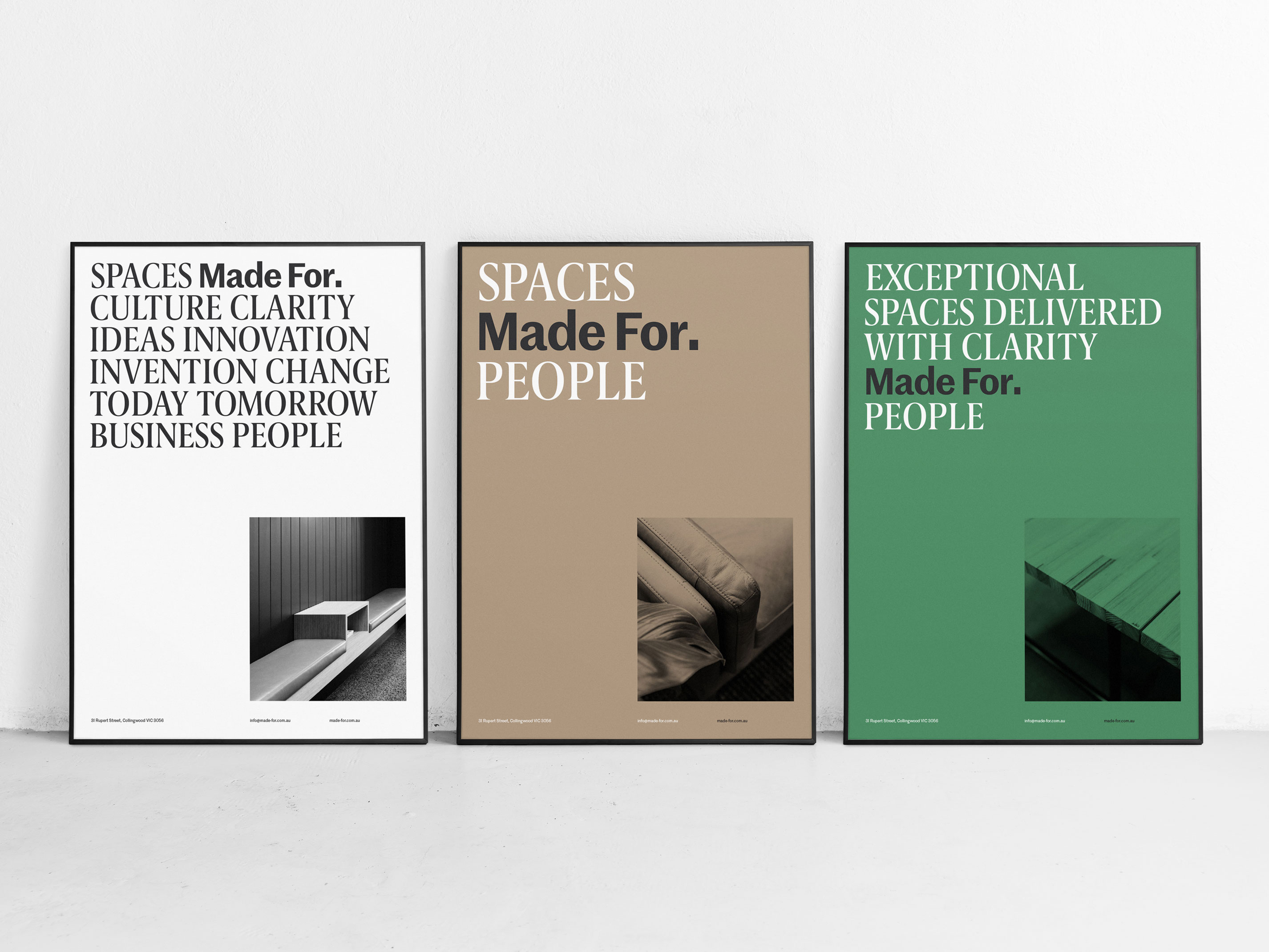 Posters showing balance through tension in graphic design
